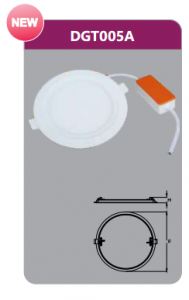 Đèn led panel âm trần tròn 5w DGT005A