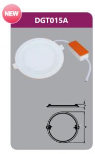 Đèn led panel âm trần tròn 15w DGT015A