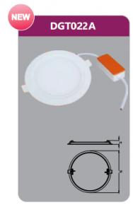 Đèn led panel âm trần tròn 22w DGT022A