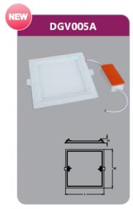 Đèn led panel âm trần vuông 5w DGV005A