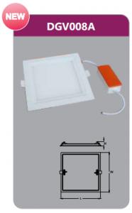 Đèn led panel âm trần vuông 8w DGV008A