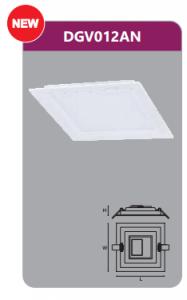 Đèn led panel âm trần vuông 12w DGV012AN