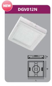 Đèn led panel gắn nổi vuông 12w DGV012N