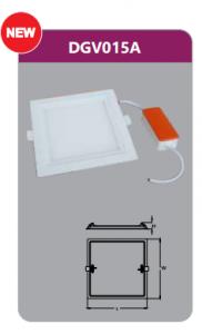 Đèn led panel âm trần vuông 15w DGV015A
