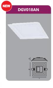 Đèn led panel âm trần vuông 18w DGV018AN