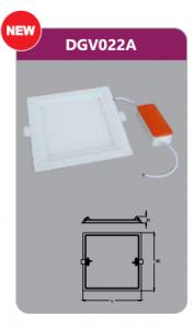 Đèn led panel âm trần vuông 22w DGV022A
