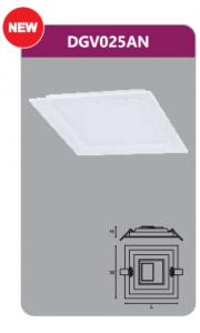 Đèn led panel âm trần vuông 25w DGV025AN