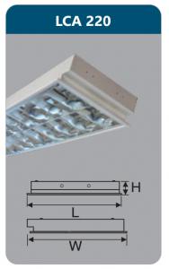 Máng đèn phản quang âm trần 2x18w LCA220