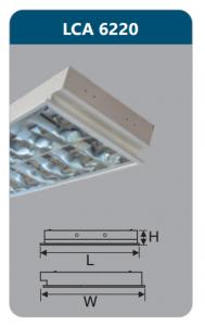 Máng đèn phản quang âm trần 2x9w LCA6220