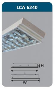 Máng đèn phản quang âm trần 2x18wLCA6240