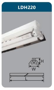 Đèn công nghiệp phản quang 2x9w LDH220