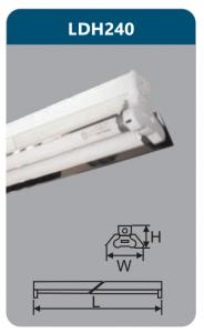 Đèn công nghiệp phản quang 2x18w LDH240