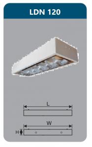 Máng đèn phản quang gắn nổi 1x9w LDN120