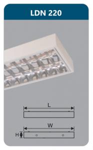Máng đèn phản quang gắn nổi 2x9w LDN220