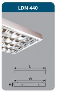 Máng đèn phản quang gắn nổi 4x18w LDN440