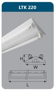 Đèn công nghiệp sơn tĩnh điện2x9w LTK220