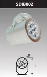 Đèn led chiếu điểm gắn trần 7w SDIB802