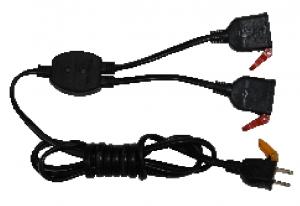 Ổ cắm nối dây chia 2 dài 2m ZCD220