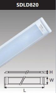 Đèn ốp trần led chụp mica 20w SDLD820