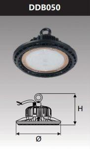 Đèn led công nghiệp chống thấm 50W DDB050