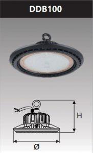 Đèn Led công nghiệp chống thấm 100W (DDB100)