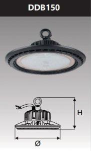 Đèn Led công nghiệp chống thấm 150W (DDB150)
