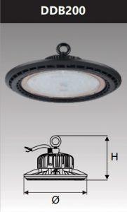 Đèn Led công nghiệp chống thấm 200W (DDB200)