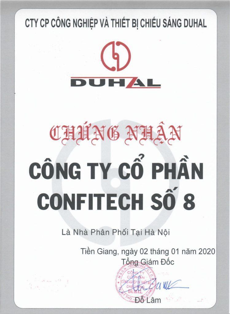 Chứng nhận nhà phân phối DUHAL 2020