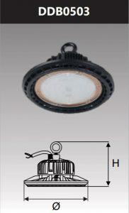 Đèn led công nghiệp chống thấm kho lạnh 50W
