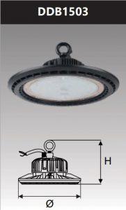 Đèn led công nghiệp chống thấm kho lạnh 150W