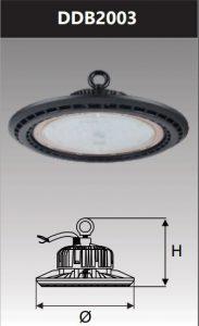 Đèn led công nghiệp chống thấm kho lạnh 200W