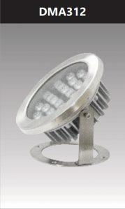 Đèn led âm nước ánh sáng đơn sắc 12W