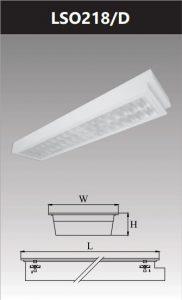 Máng đèn led tán quang âm trần chống thấm 2x18W