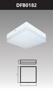 Đèn ốp trần led đế nhôm vuông 18W