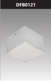 Đèn led vuông tán quang gắn nổi trang trí 12W