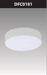 Đèn ốp trần led đế nhôm tròn 18W