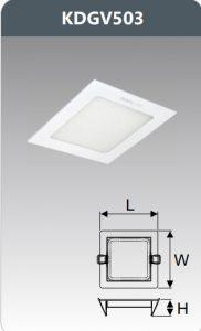 Đèn led panel âm trần vuông 3W