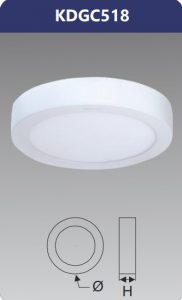 Đèn led panel gắn nổi tròn 18W