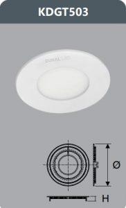 Đèn led panel âm trần 3W