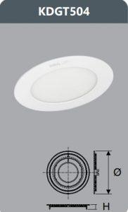 Đèn led panel âm trần 4W