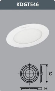 Đèn led panel âm trần 7W