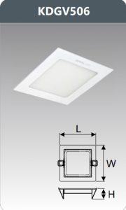 Đèn led panel âm trần vuông 6W