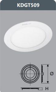 Đèn led panel âm trần 9W