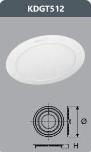 Đèn led panel âm trần 12W
