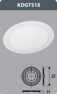 Đèn led panel âm trần 18W