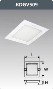 Đèn led panel âm trần vuông 9W