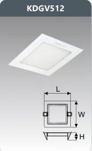 Đèn led panel âm trần vuông 12W