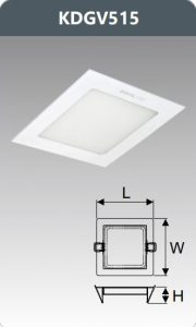 Đèn led panel âm trần vuông 15W