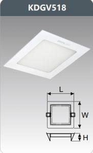Đèn led panel âm trần vuông 18W